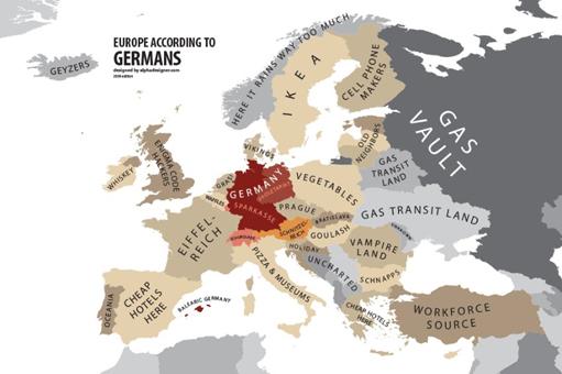 ドイツ人が見た隣国:ツヴェツコフの「偏見の地図」 - 続 壺 齋 閑 話