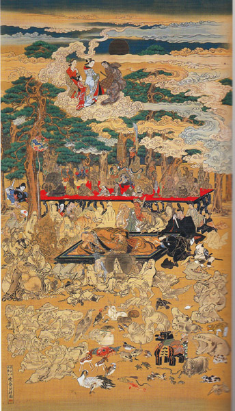 北海道人樹下午睡図:河鍋暁斎の仏界画 - 続 壺 齋 閑 話